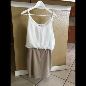 Dresses & Skirts - Body con dress, with blousy white chiffon top